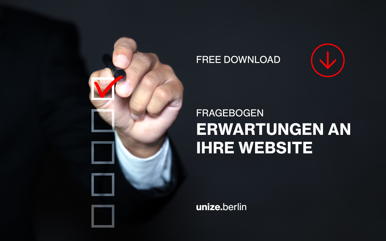 Checkliste Erwartung Website